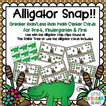 Alligator Snap!! Math Center Greater than/Less than