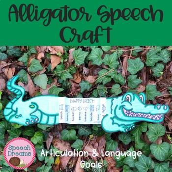 Alligator Speech Therapy Craft {language & articulation}