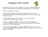 Alligator Ten Frames