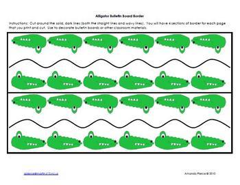 Alligator Themed Bulletin Board Border