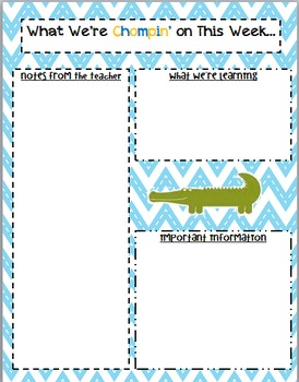 Alligator Themed Newsletter Layout