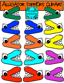 Alligator Toppers Clipart
