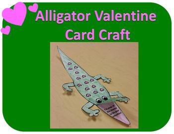 Alligator Valentine Card Craft