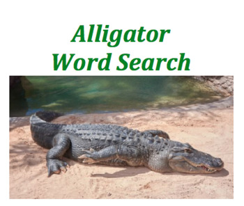 Alligator (WORD SEARCH)