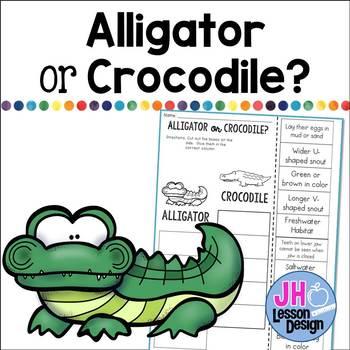 Alligator or Crocodile? Cut and Paste