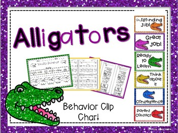 Alligators Behavior Clip Chart