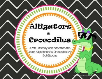 Alligators & Crocodiles - ELA and Science Literacy Printables + QR Codes