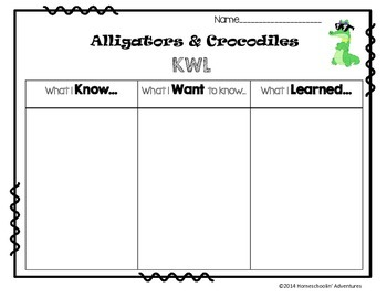 Alligators & Crocodiles - ELA and Science Literacy Printables + QR Codes