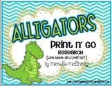 Alligators Print n' Go Bundle {Research with Math and Literacy}
