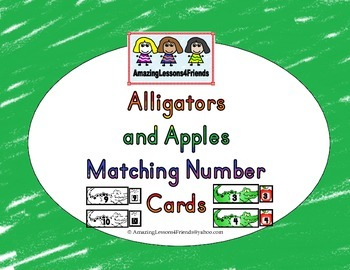 Alligators and Apples Matching Number Cards
