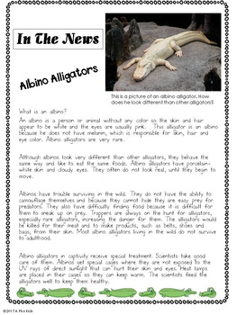 Alligators and Crocodiles: A Non-Fiction Story & Literacy Activities