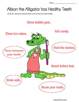 Healthy Teeth with Allison the Alligator