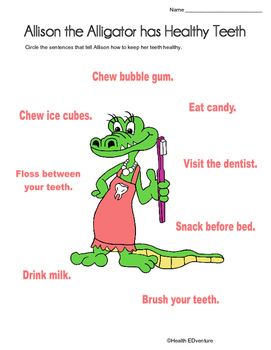 Healthy Teeth with Allison the Alligator