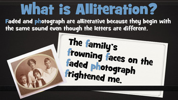 Alliteration - 34 Slide PowerPoint