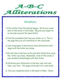 Alliteration Activity ~ Create an ABC Alliteration Class Book