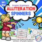 Alliteration Spinners to Create Sentences and Teach Kids About Alliteration
