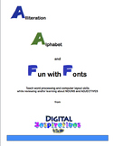 Alliteration Alphabet & Fun with Fonts!