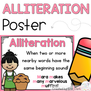 Alliteration Anchor Poster {FREE}