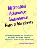 Alliteration, Assonance, & Consonance Packet
