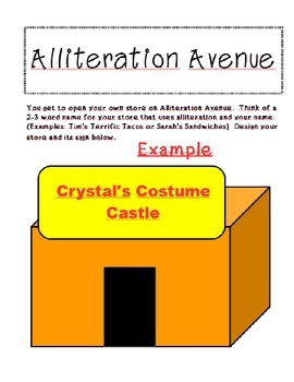 Alliteration Avenue Printable Bulletin Board Activity