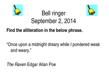 Alliteration Bellringers