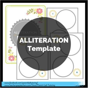 Alliteration Template (Names, Alphabetical Order, Themes, etc)