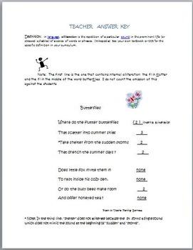Alliteration: Easy to Teach!