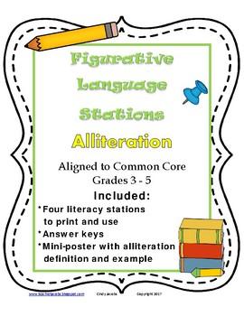 Alliteration Figurative Language Stations
