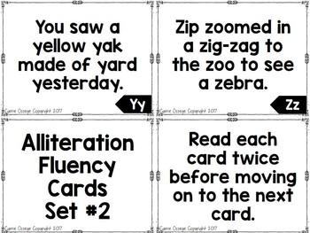 Alliteration Fluency Cards
