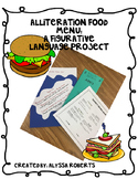 Alliteration Food Menu: A Figurative Language Project