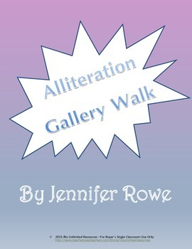 Alliteration Gallery Walk