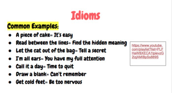 Alliteration, Idioms, and Allusion Lesson