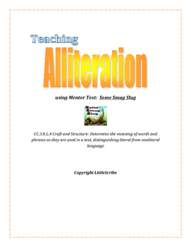 Alliteration Lesson & Supplements