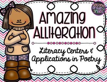 Alliteration (Figurative Language Literacy Centers & Poetry)