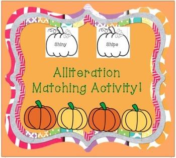 Alliteration Matching Activity!