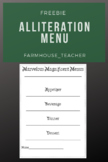 Alliteration Menu