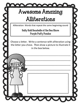 Alliteration, Onomatopoeia & Rhyme Worksheets & Activities