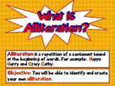 Common Core Alliteration Action Interactive PPT Revised CC