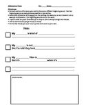 Alliteration Poem Worksheet