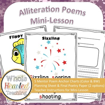 alliteration poems by whole hearted teaching teachers pay teachers. Black Bedroom Furniture Sets. Home Design Ideas