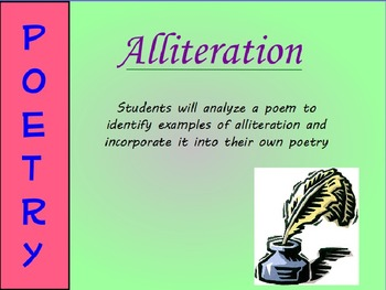 Alliteration Poetry Mini-Lesson (PowerPoint)