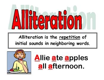 Alliteration Poster (w/ Pennsylvania Standards)