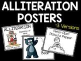 Alliteration Posters; 3 versions; Figurative Language