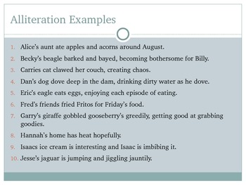 Alliteration PowerPoint