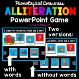 Alliteration PowerPoint Game Phonological Awareness