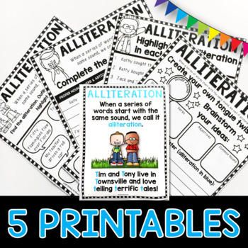 Alliteration PowerPoint and Worksheets Figures of Speech