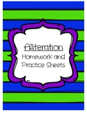 Alliteration Practice Packet