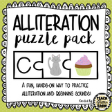 Alliteration/Beginning Sound Puzzle Activity for Centers or Small Group