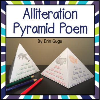 Alliteration Pyramid Poem: Lesson Plans and Printables for Teaching Alliteration