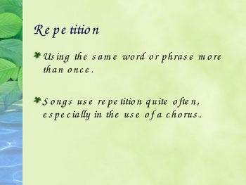 Alliteration, Rhyme and Repetition PowerPoint